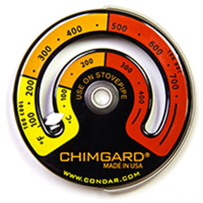 Picture of the Chimgard stovepipe thermometer